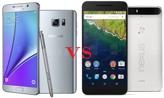 Compare Huawei Nexus 6P vs Galaxy Note 5, Desain