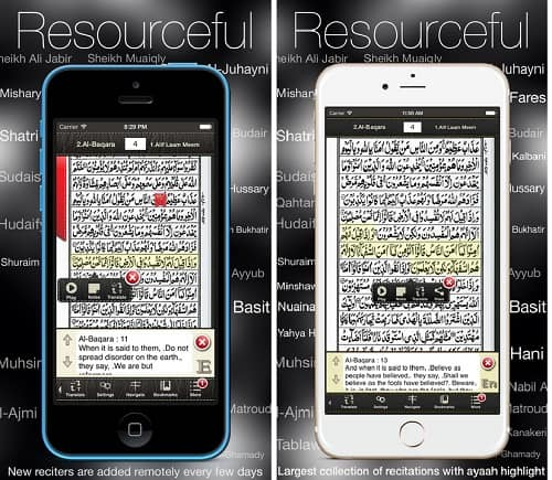 Download Aplikasi AlQuran iPhone Terbaik iTunes Quran Kareem 16 Line