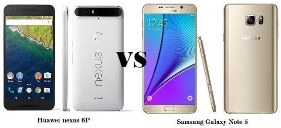 Compare Huawei Nexus 6P vs Galaxy Note 5, Perang Phablet Premium