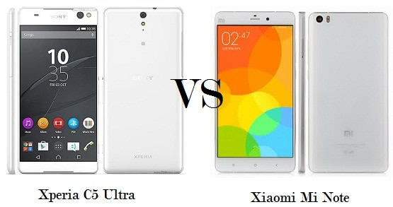 Xperia C5 Ultra vs Xiaomi Mi Note, Adu Ponsel Kamera 13MP