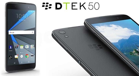 Harga BlackBerry DTEK50, Smartphone Android RAM 3 GB CPU Octa Core 2