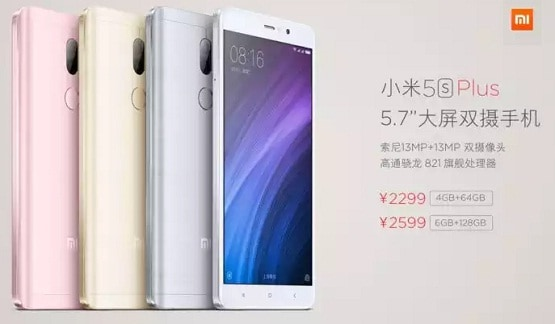 Harga Xiaomi Mi 5s Plus, Android Dual Kamera 12 MP RAM 6 GB